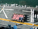 911 WTC Flag on the USS Peleliu (LHA 5)