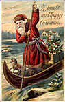 thumbnail of Santa in a Boat